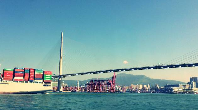 Bridge Ship Pier Free Photo
