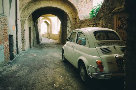 Fiat 500 car  Free Photo