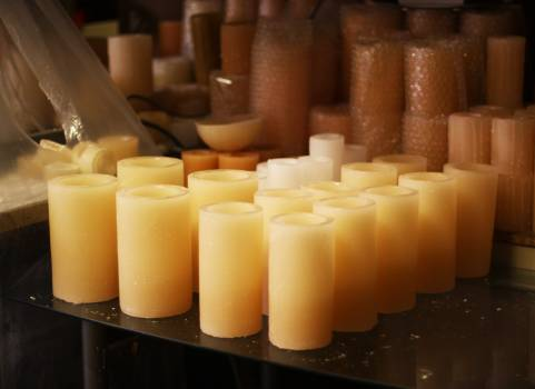 Candle Cheese Food Free Photo