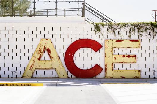 ace letters concrete  Free Photo