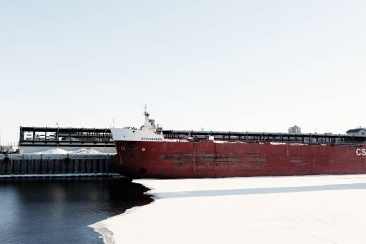 ship container carrier  Free Photo