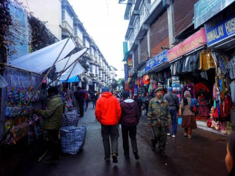 streets market buying  Free Photo