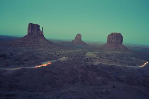 desert road rocks  Free Photo