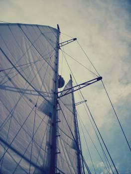 sailboat sals mast  Free Photo