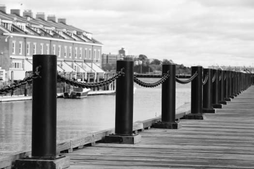 wood dock pier  Free Photo