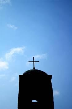 cross religion blue  Free Photo