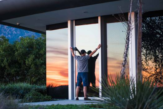 house windows architecture  Free Photo