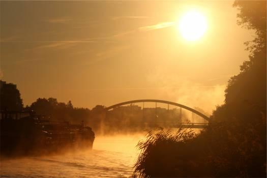 sunset sky bridge  #22410