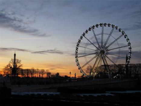 ferris wheel sunset sky  Free Photo