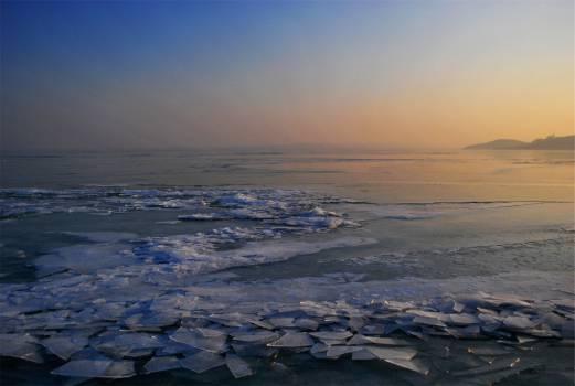 sunset dusk ice  #22546