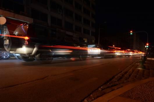 traffic lights cars  Free Photo