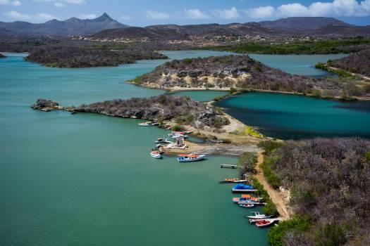 Santa Martha Bay Curacao caribbean  Free Photo