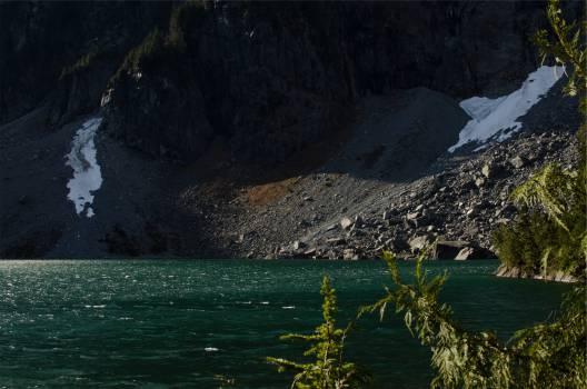 lake water rocks  #22590