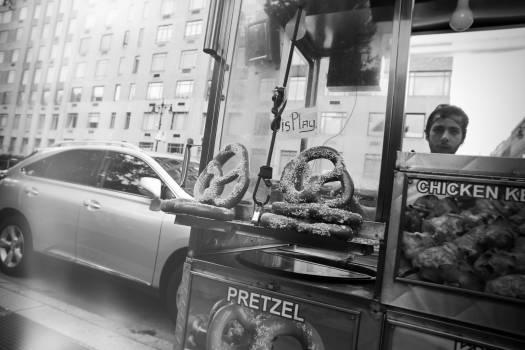 food stand pretzels chicken  Free Photo