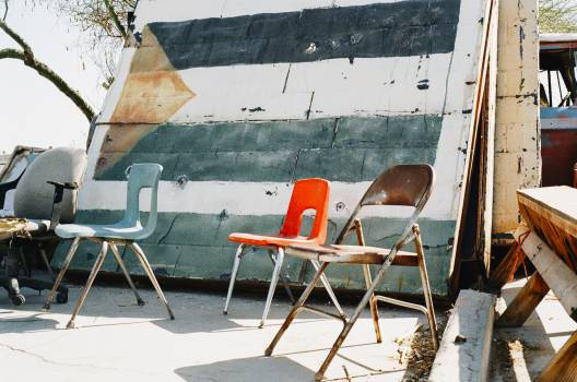 chairs paint wall  Free Photo