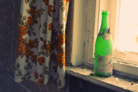 green bottle window  #22651