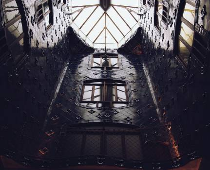 architecture skylight ceiling  Free Photo