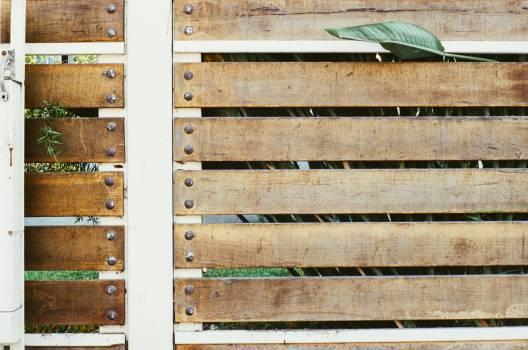 wood post fence  Free Photo