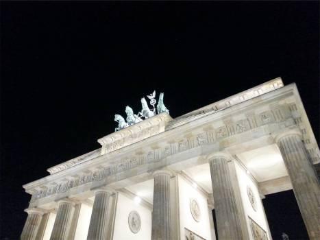 building architecture pillars  Free Photo
