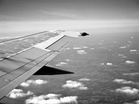 airplane wing flying  #22744