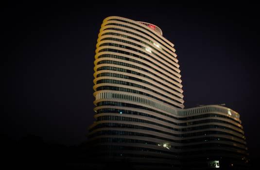 building architecture night  Free Photo