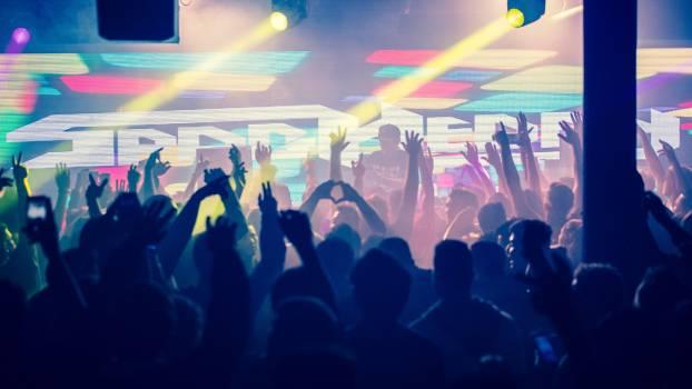 Crowd Silhouette Disco Free Photo