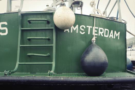 fishing boat amsterdam  Free Photo