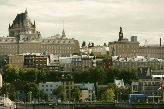 quebec city castle  Free Photo