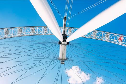 ferris wheel blue sky  Free Photo
