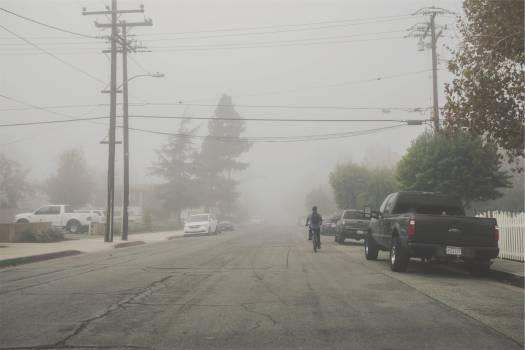 street pavement fog  Free Photo