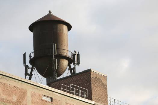 water tower building rooftop  #22992