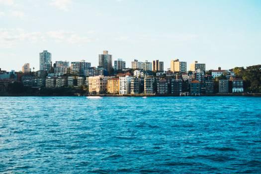 water buildings skyline  Free Photo
