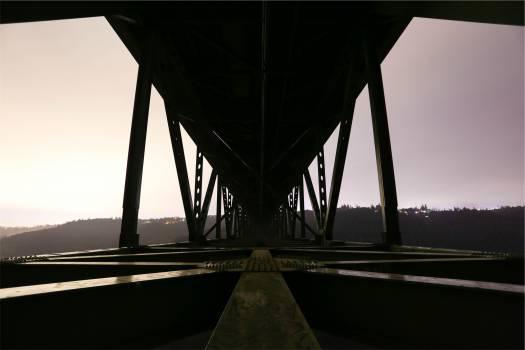 bridge architecture dusk  Free Photo