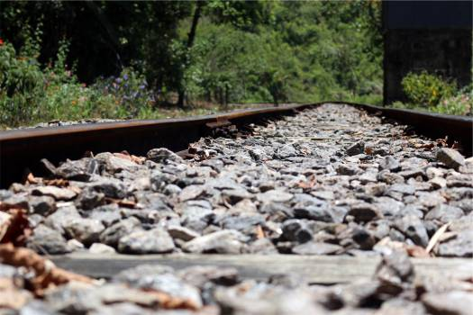 railroad railway train tracks  Free Photo