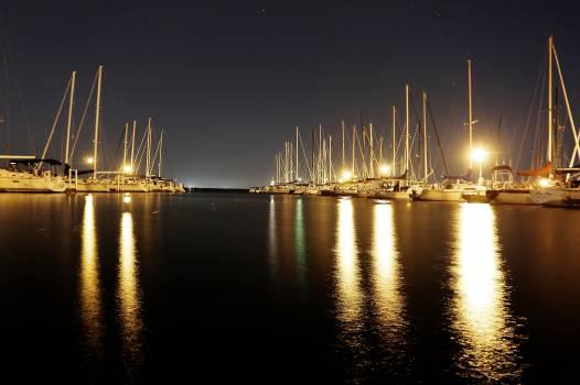 sailboats water pier  Free Photo
