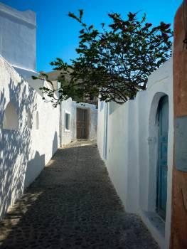 Oia walkway Santorini  Free Photo