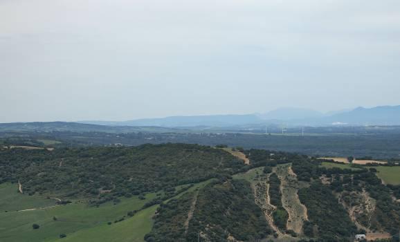 Spain landscape aerial  Free Photo