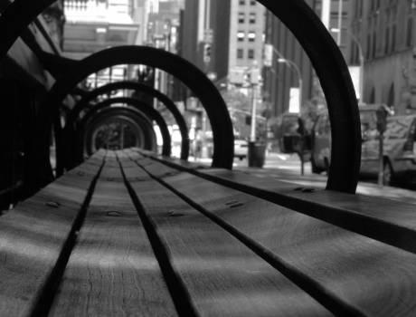 wood bench city  #23198