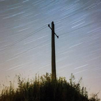 power lines pole sky  #23251
