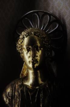 gold statue angel  #23332