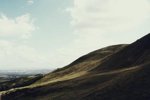 blue sky hills  Free Photo