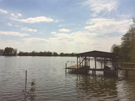lake water dock  Free Photo
