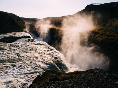 waterfall mist stream  #23512