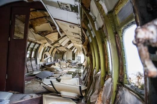 airplane crash wreck Free Photo