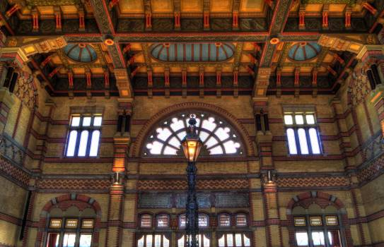 Groningen central train station lamp post  Free Photo