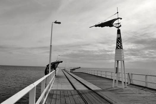 grey sky pier  #23637