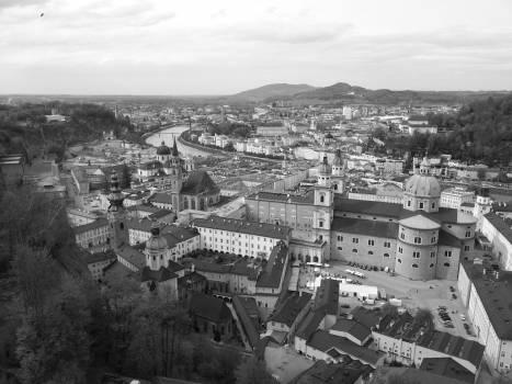 salzburg black white  Free Photo