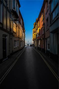 street road buildings  Free Photo