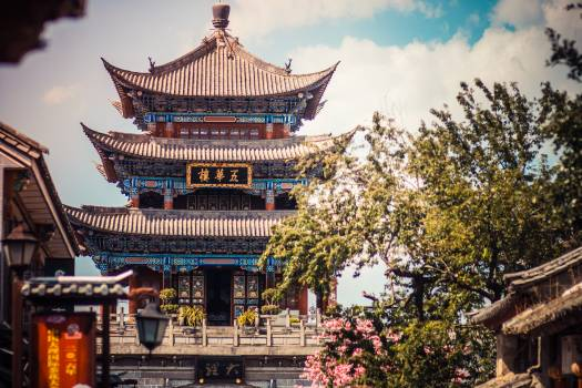 Temple Building Stupa #239196