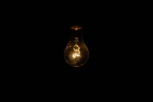 light bulb lights dark Free Photo